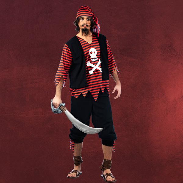 Piraten Kostüm Kapitän Stoppelbart