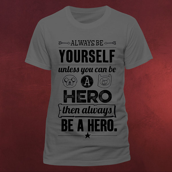 Adventure Time - Hero T-Shirt grau