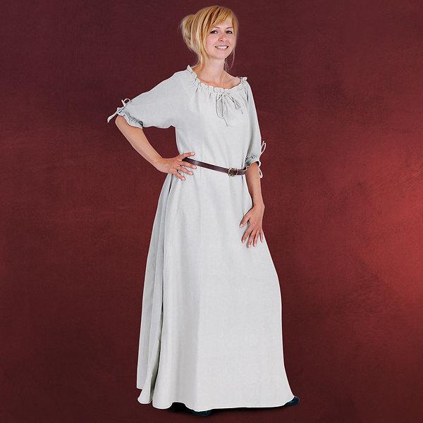 Mittelalter Kleid Kurzarm natur