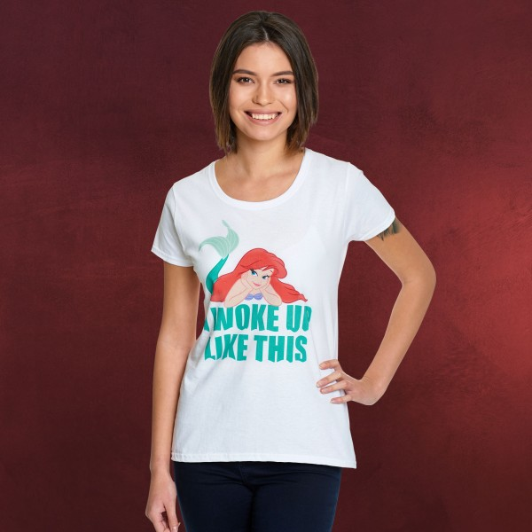 Arielle - Woke Up Like This T-Shirt Damen weiß