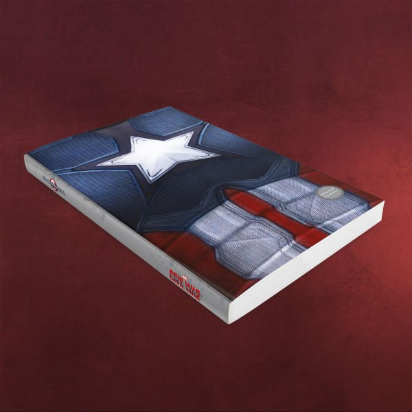 Civil War - Captain America Notizbuch mit Leuchtfunktion A5