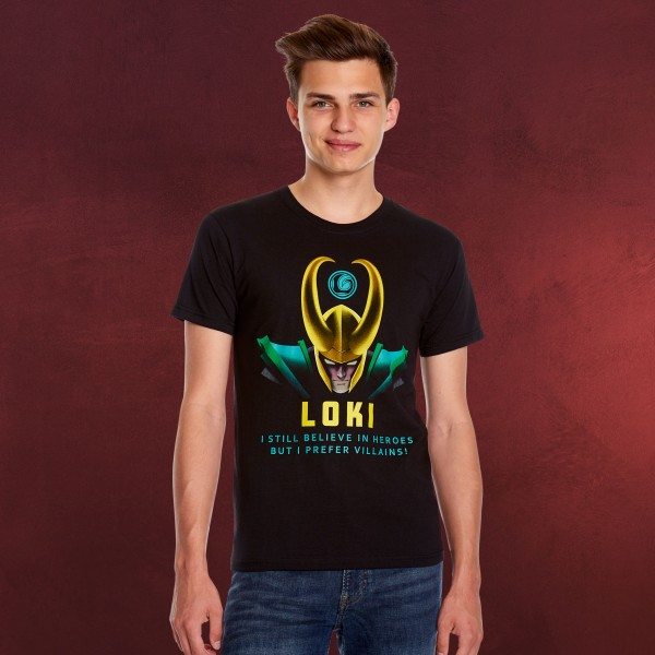 Loki - I Prefer Villains T-Shirt schwarz