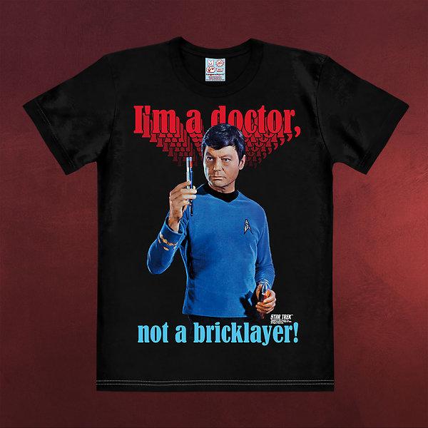 Star Trek - McCoy Bricklayer T-Shirt schwarz