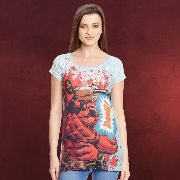 Deadpool - Bang Girlie Shirt Bang Loose Fit blau
