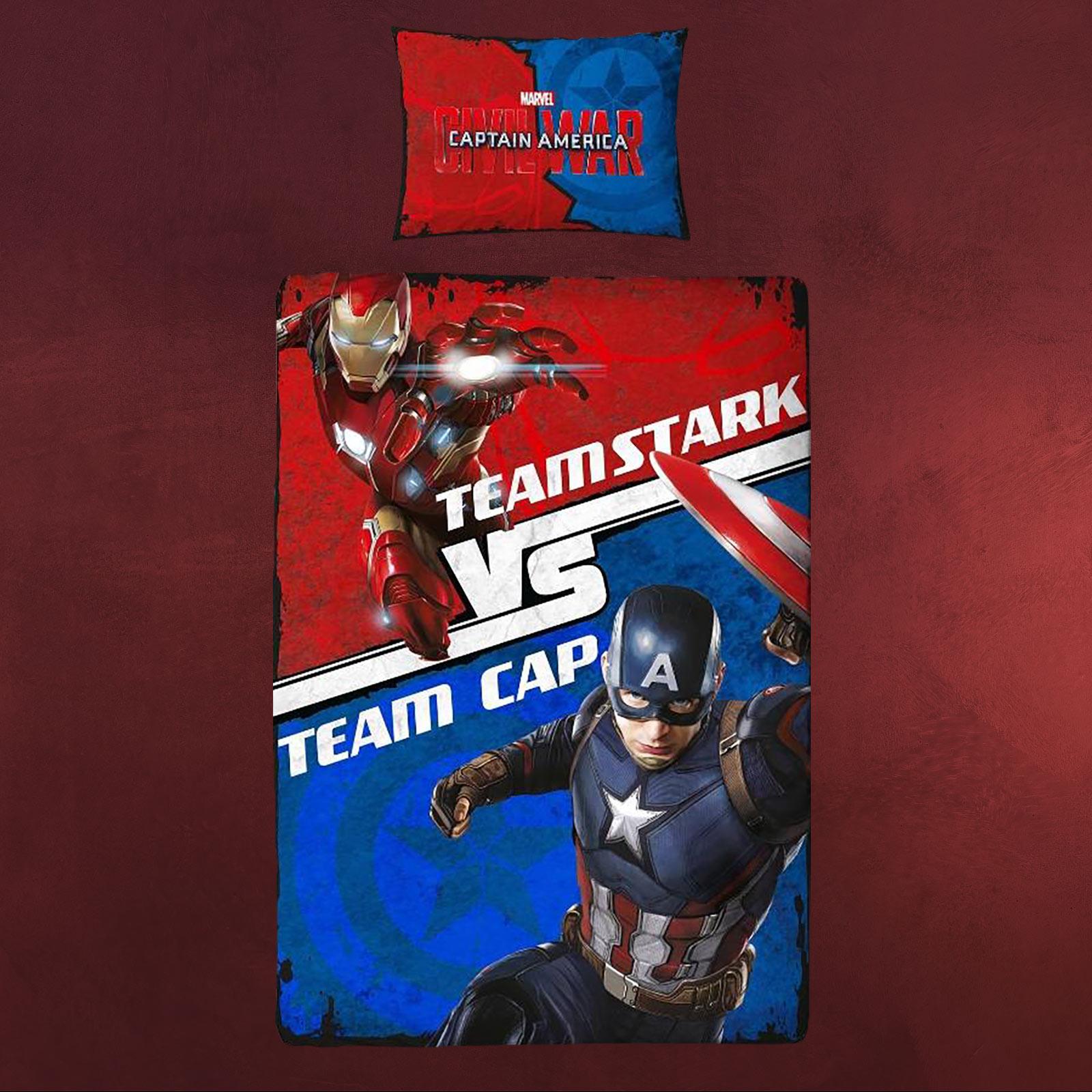 Captain America Vs Iron Man Wende Bettwäsche Elbenwald