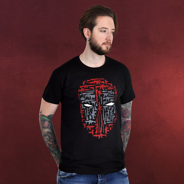 Dead Pool Weapons T-Shirt schwarz