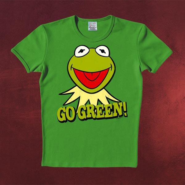 Muppets - Kermit Go Green T-Shirt grün Slim Fit