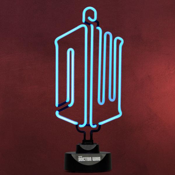 Doctor Who - Logo Neon Tischlampe