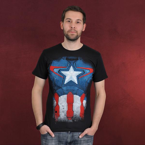 Captain America - Suit T-Shirt schwarz