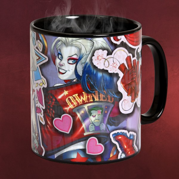Harley Quinn Comic Thermoeffekt Tasse