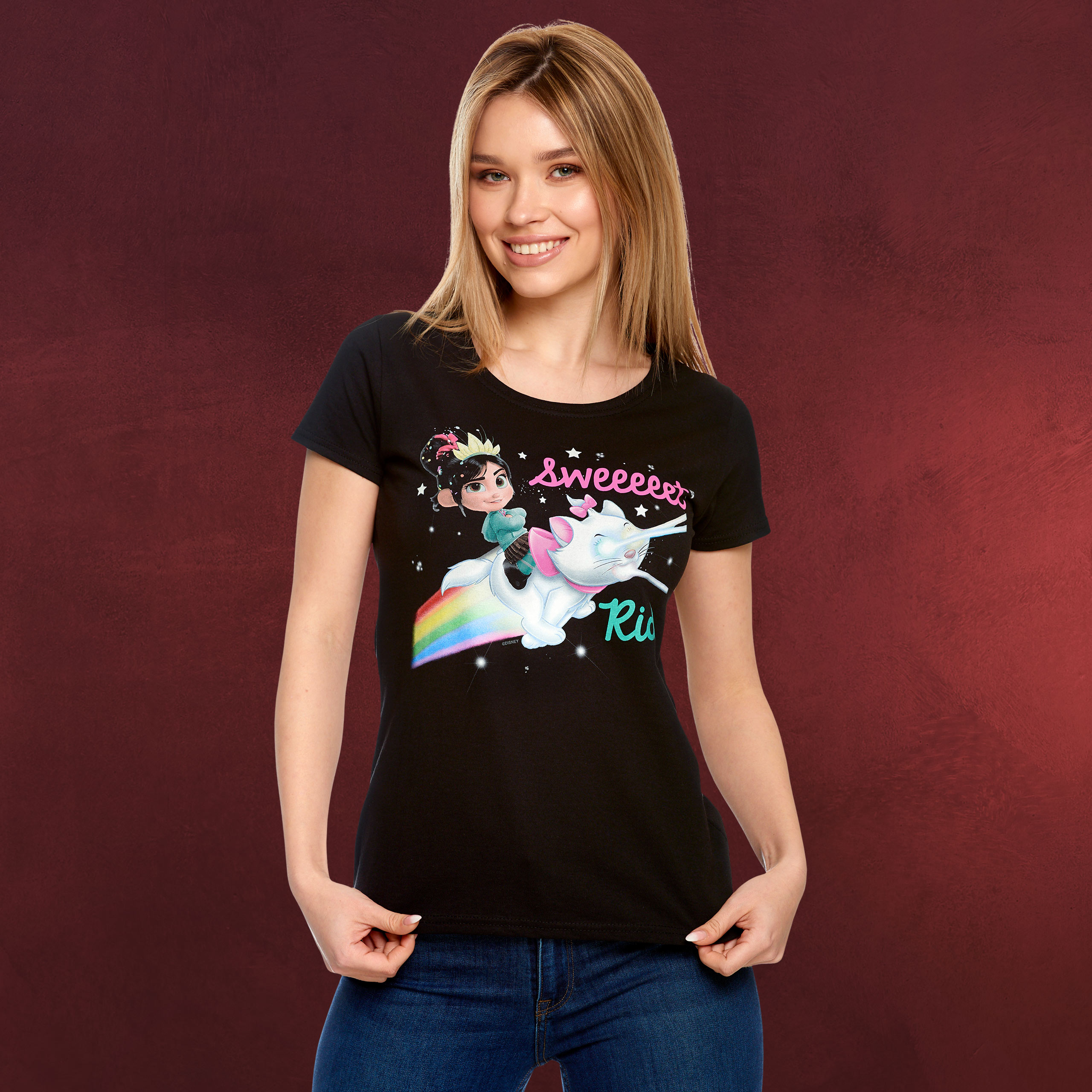 Ralph reichts Vanellope Sweet Ride T Shirt Damen schwarz