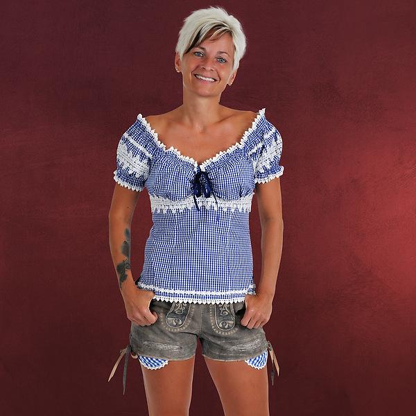 Trachten Echtlederhose Damen Jeansoptik