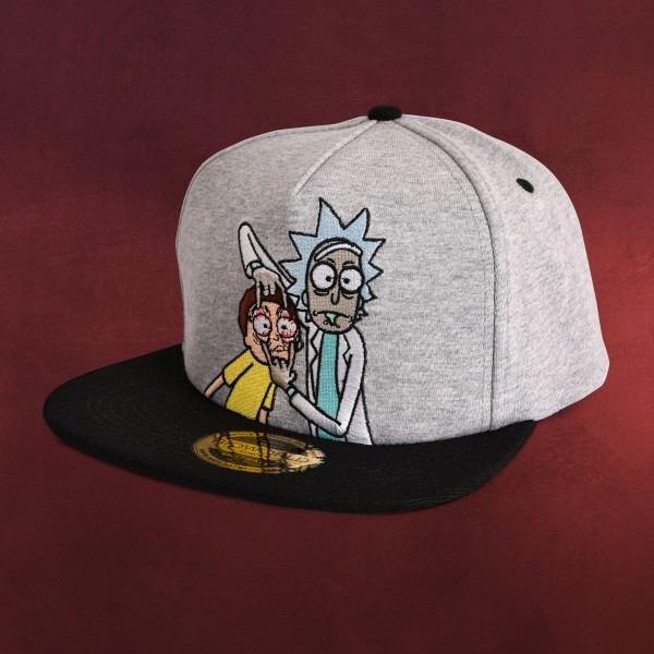 Rick and Morty - Open your Eyes Snapback Cap grau