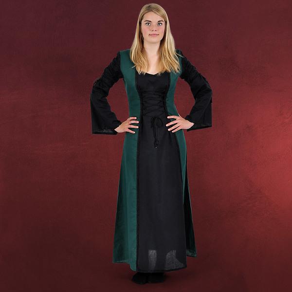 Mittelalter Kleid Magdalena schwarz-grün