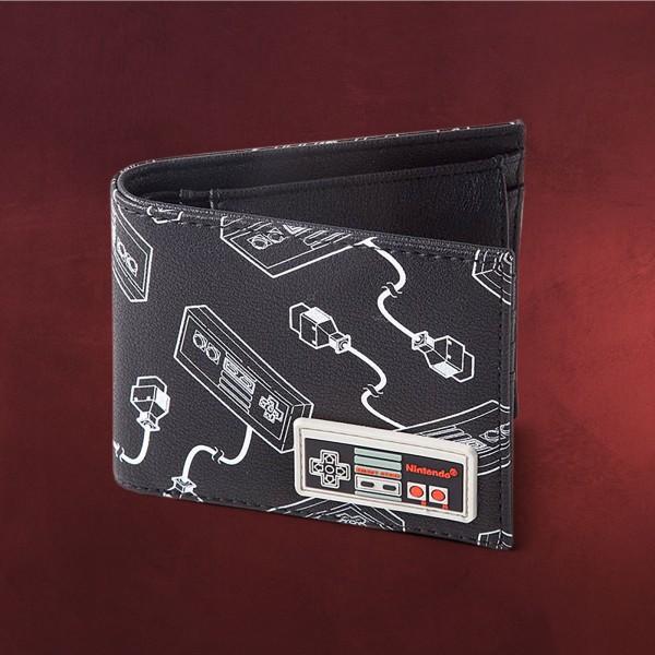 Nintendo - NES Controller Geldbörse schwarz