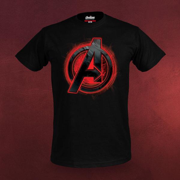Avengers - Age of Ultron - Logo T-Shirt schwarz