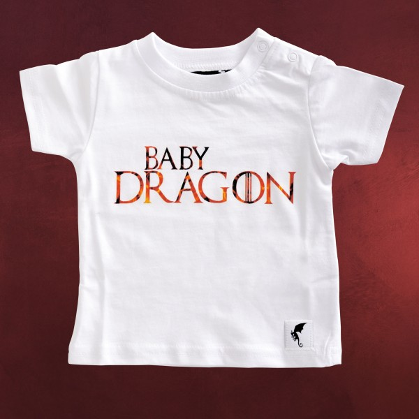 Baby Dragon - Kinder T-Shirt weiß