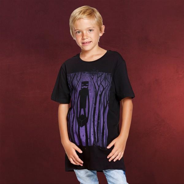 Minecraft - Enderman Shadow Kinder T-Shirt schwarz