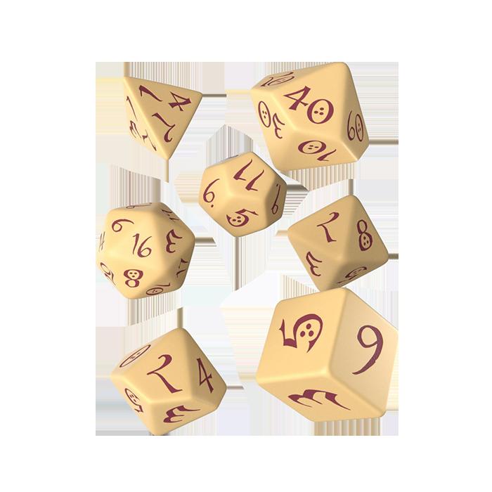 Classic RPG Würfel Set 7tlg beige