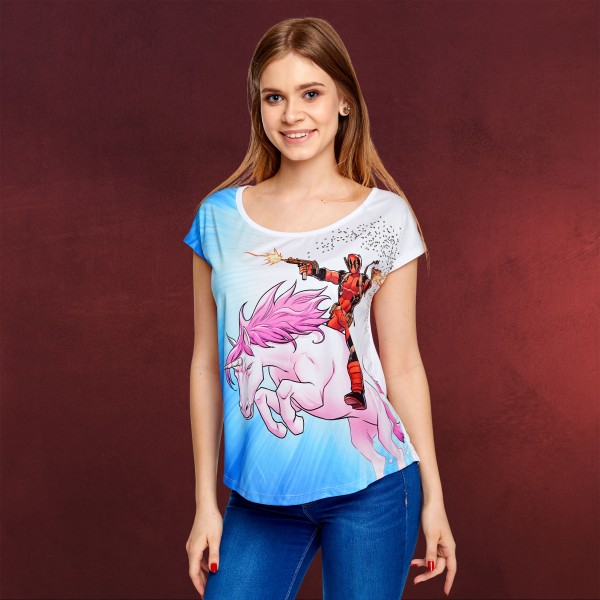 Deadpool - Unicorn Ride T-Shirt Damen Loose Fit