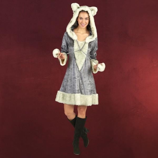 Silberfuchs - Plüsch Kostüm Damen