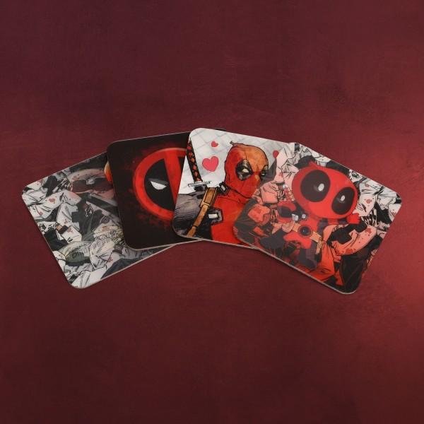 Deadpool 3D Untersetzer 4er Set