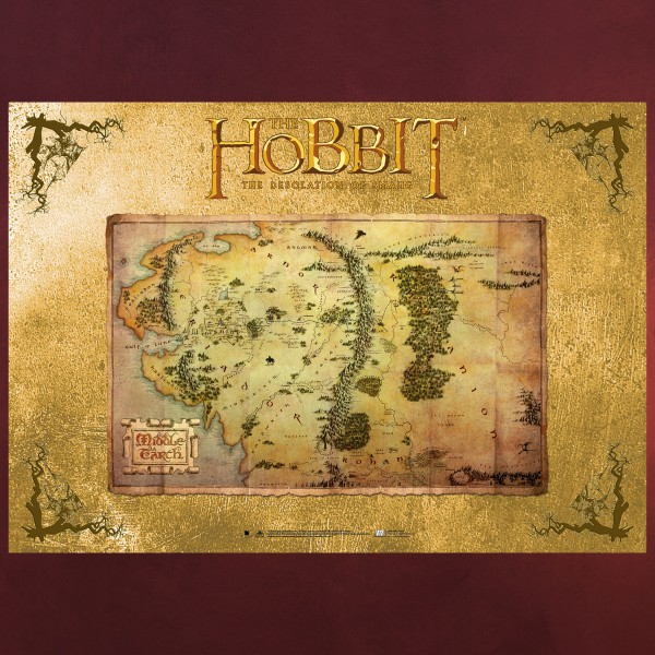 Der Hobbit - Mittelerde Karte Poster