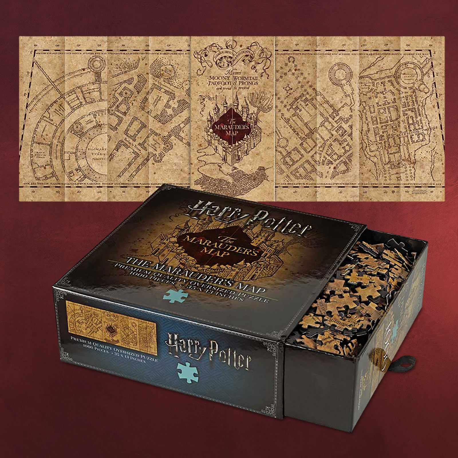 Karte Des Rumtreibers.Die Karte Des Rumtreibers Harry Potter Filmreplik Elbenwald