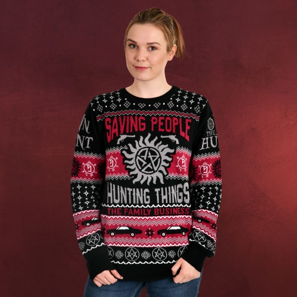 Supernatural - Saving People Hunting Things Strickpullover