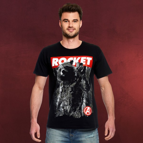 Avengers - Rocket Raccoon T-Shirt schwarz