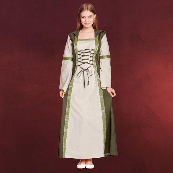 Rebecca Mittelalter Kleid natur-grün