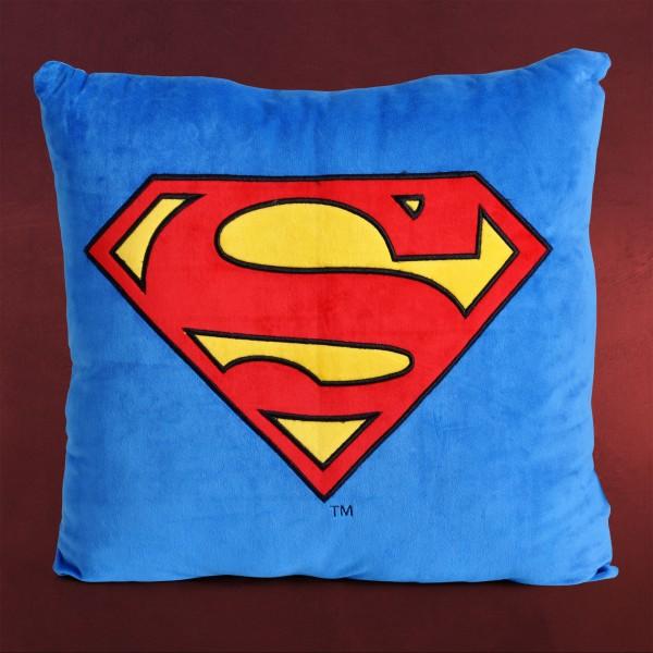 Superman - Classic Logo Kissen blau