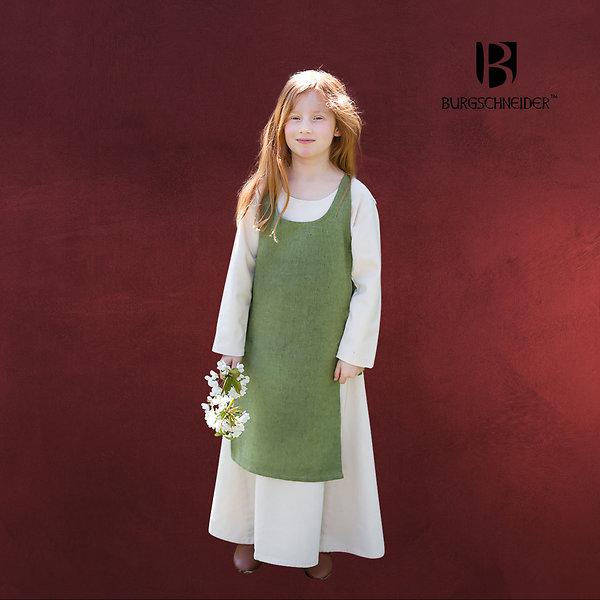 Mittelalter Kinder Überkleid Ylva grün