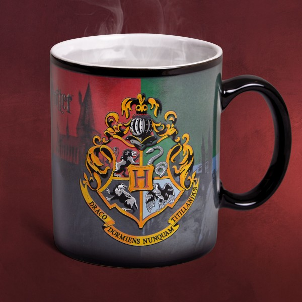 Harry Potter - Hogwarts Wappen Thermoeffekt Tasse
