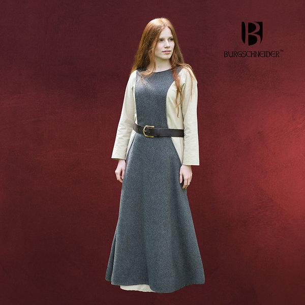 Mittelalter Überkleid Surcot Albrun grau