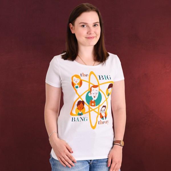 Big Bang Theory - Toon Gang T-Shirt Damen weiß