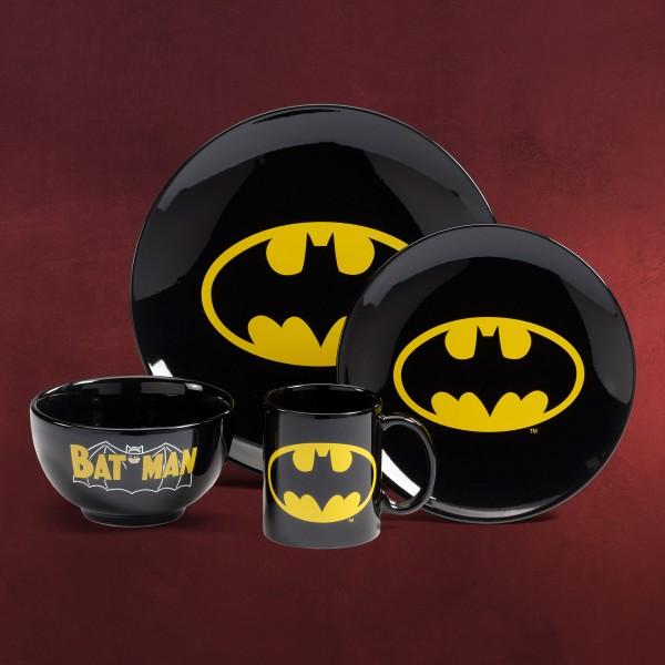 Batman - Logo Geschirrset schwarz