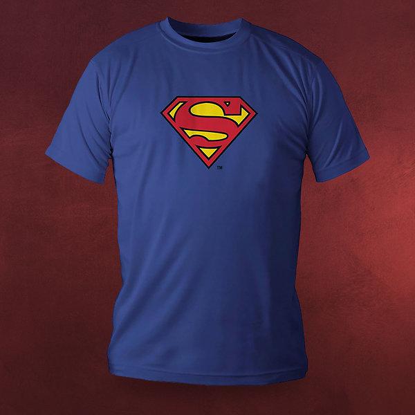 Superman - Superhelden Logo Deluxe T-Shirt blau
