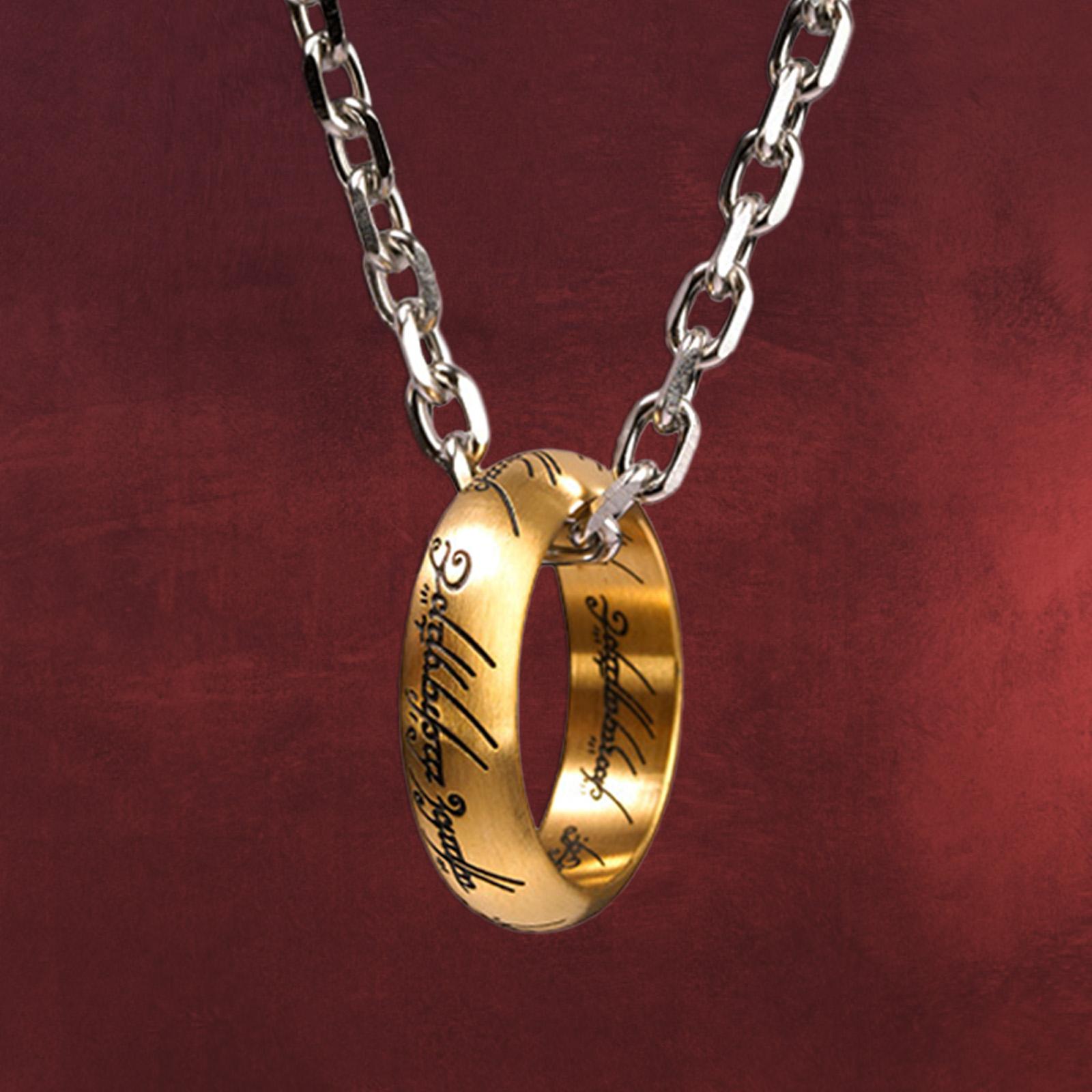 herr der ringe der eine ring an kette edelstahl elbenwald. Black Bedroom Furniture Sets. Home Design Ideas
