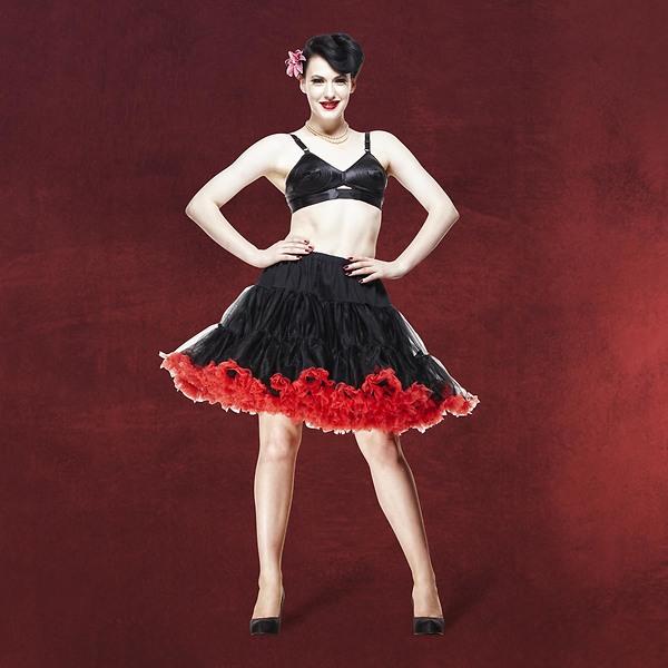 Petticoat Swing - schwarz-rot