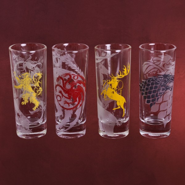 Game of Thrones - Wappen Shots Gläserset