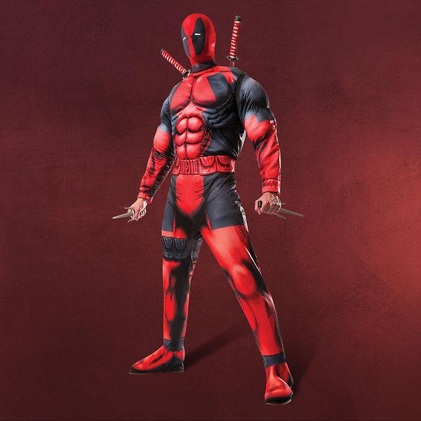 Deadpool - Kostüm mit Muskeln