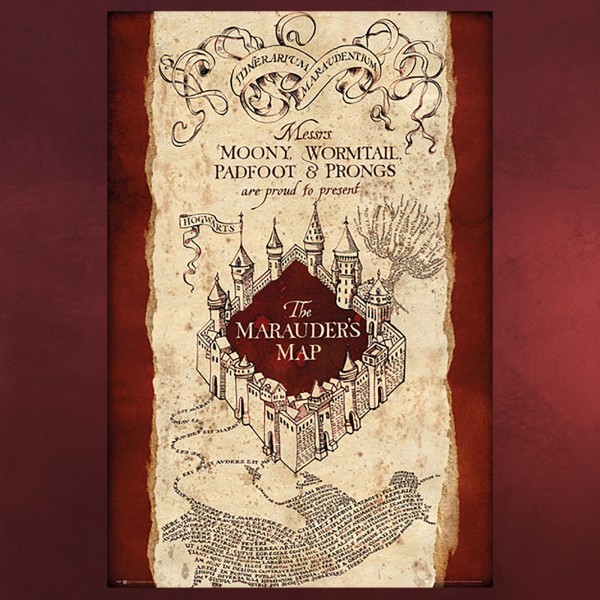 Harry Potter - Karte des Rumtreibers Maxi Poster