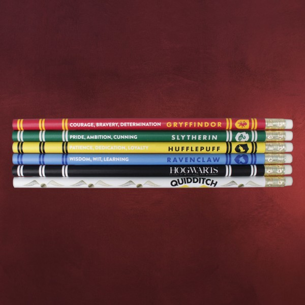 Harry Potter - House Pride Bleistifte 6er Set