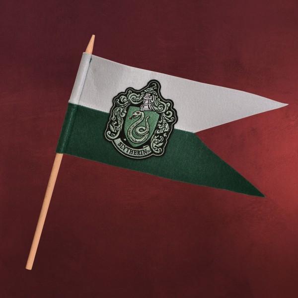 Harry Potter - Slytherin Wappen Fahne Filz