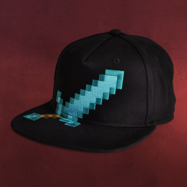 Minecraft - Diamond Sword Basecap schwarz
