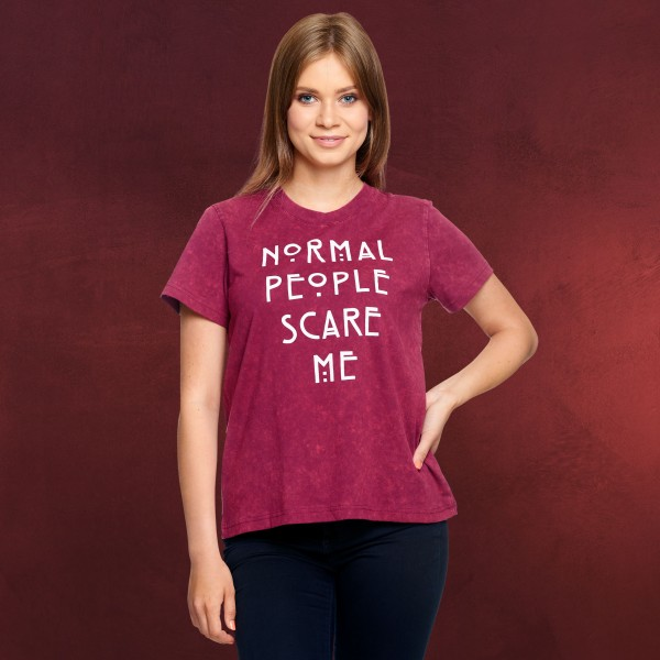American Horror Story - Normal People Scare Me T-Shirt Damen rot