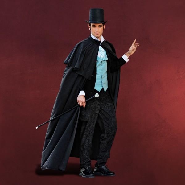 Gentleman Umhang mit Schulterteil schwarz