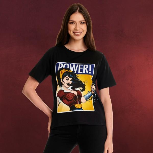 Wonder Woman - We Can Do It! T-Shirt Damen schwarz