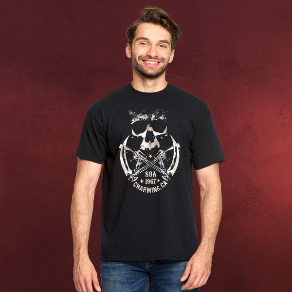 Sons of Anarchy - Skull and Sickle T-Shirt schwarz